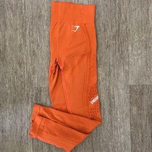 Gymshark Flawless Knit Burnt Orange Leggings! 🧡